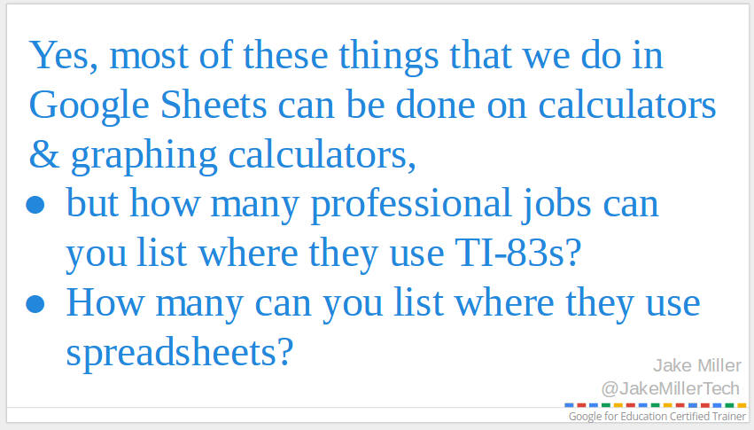 Why use Google Sheets?