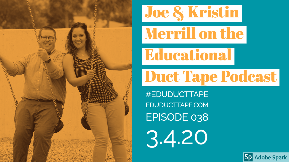Image shows a picture of Joe and Kristin Merrill, guests on this podcast episode.